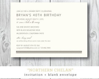 Northern Chelan Printed Invitations | Bohemian or Tribal Party or Shower Invitation | Printed or Printable by Darby Cards