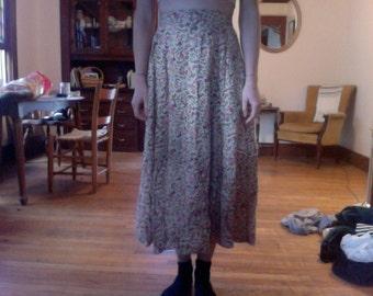 vintage maxi floral maxi skirt
