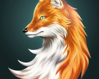 Magic Fox - 11x14 - Giglee Art Print