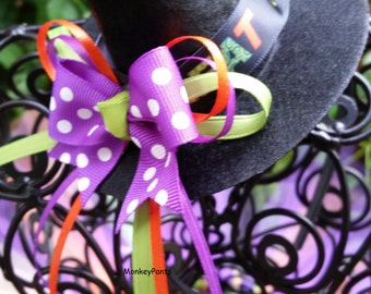 Mini Witch Hat Headband  - Girls Witch Hat - Costume Accessory - Ready to Ship