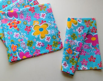Cloth Napkin, set of 4, cotton/floral.