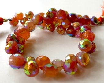 AB Carnelian Petitie Faceted 6-7mm Onion Beads - 1/2 Strand