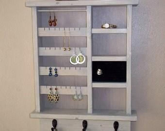 Jewelry Organizer with Ring Holder , Jewelry Storage and Organization, Jewelry Holder