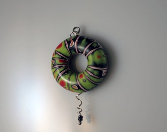 Polymer Clay Air Pendant - WEARABLE ART!!!