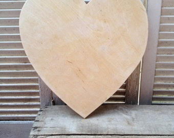 Unpainted Birch Heart Pattern C, Unfinished Wood Supplies, DIY Large Wood Heart, Crafting Supplies Wood
