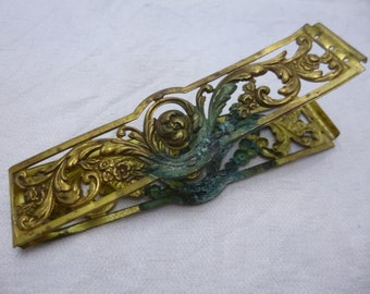 Antique French Gilded Brass Bookbinding Bands for a Notebook or Cahier Victorian Style