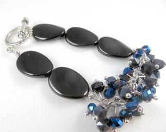 """Black mini cha cha bracelet  ( 7 1/2 """")"""