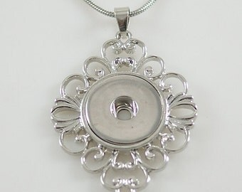 1 Pendant Only - FITS 18MM Candy Snap Charm Jewelry Silver KB3361 Cp0067