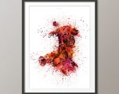 Wales Paint Splashes Map, Art Print (2034)