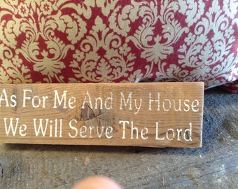 Primitive distressed Wooden Hand Painted Sign - Spiritual