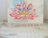 Lotus Bloom, Art Card from Original Watercolour