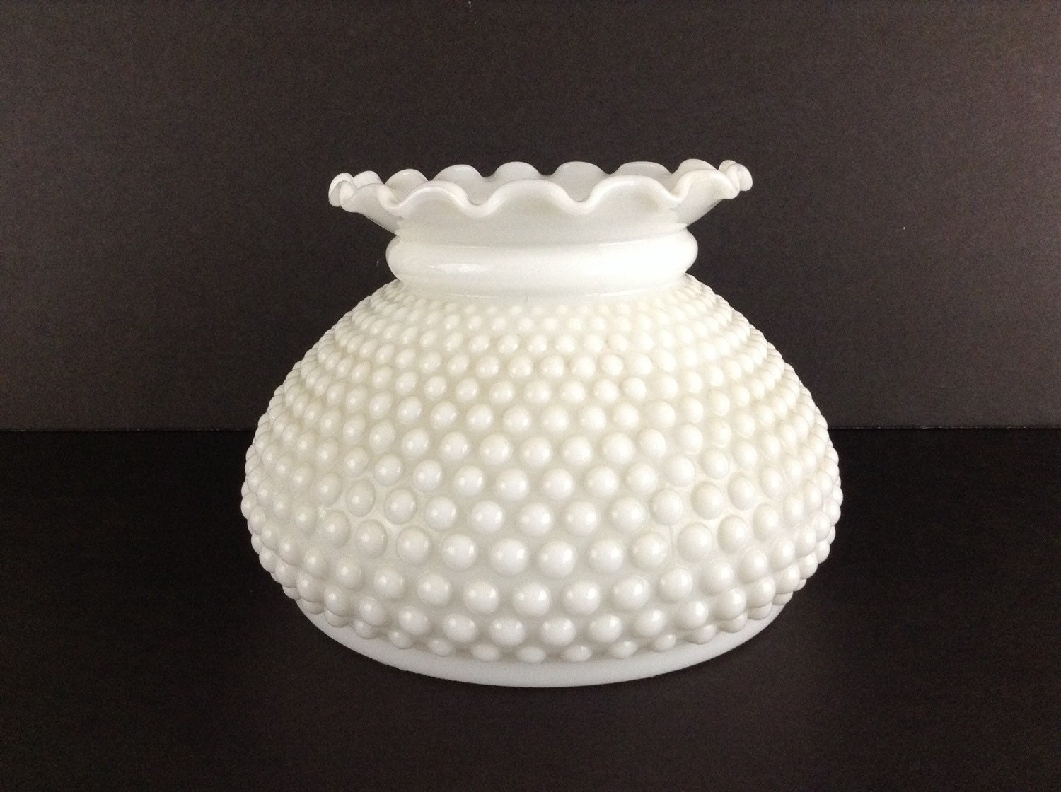 hobnail milk glass globe replacement shade milk glass