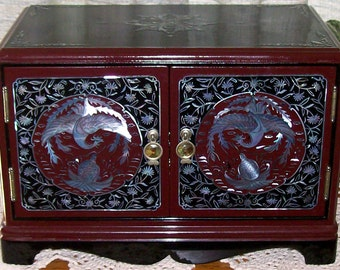 Jewelry Box with Mother-of-Pearl and Seashell Inlays