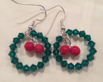 Swarovski Wreath Earrings