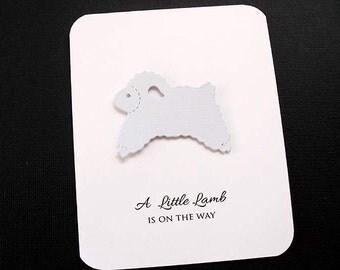LAMB Baby Shower Invitations- White
