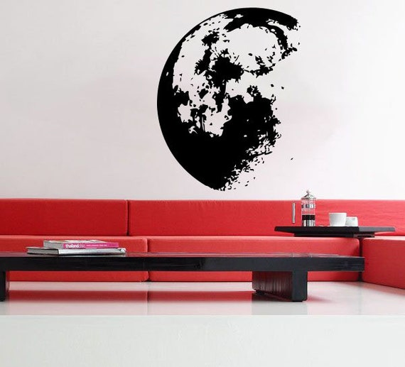 Outer space moon uber decals wall decal vinyl decor by for Outer space vinyl wall decals