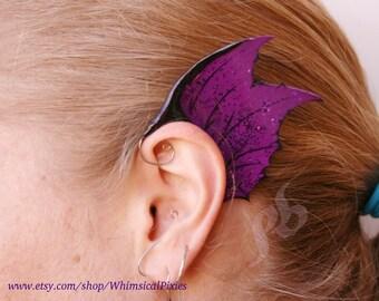 Custom Dragon Fin Ear Wings: Spiky Fairy jewellery ear cuff, Mermaid fin ears, party or festival costume