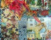 Italian Village Art, Mixed Media Art Print, Venice Apartments, Clotheslines in Venice, Summer in Italy,Kathleen Leasure, From Glen To Glen