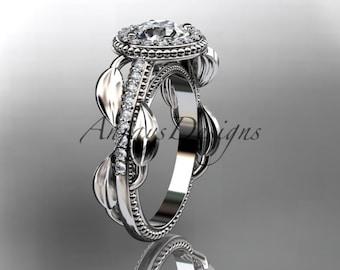 Platinum diamond unique engagement ring,wedding ring ADLR229