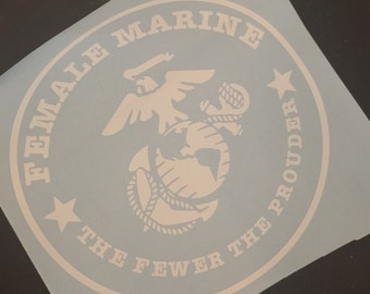 Proud Female Marine the fewer the prouder