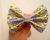Minion hair bow