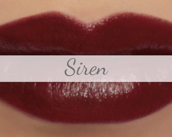 "Vegan Lipstick Sample - ""Siren"" (deep oxblood red color) lip tint, balm, lip colour natural lipstick"