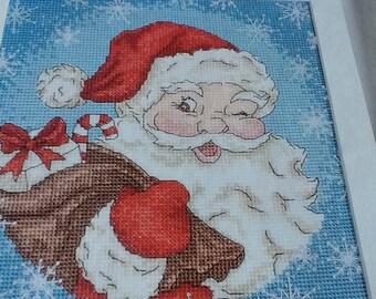 SECRET SANTA - cross stitch pattern only.