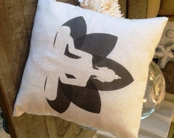 Buddha Lotus Flower pillow  12x12 buddhism symbol