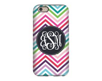 Personalized iPhone 6 case, Rainbow Chevron, iPhone 5 case, iPhone tough case, iPhone snap on case, 3d iPhone case