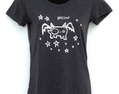 Flying Cat Meow Womens T shirt - Bella Triblend Scoop Neck -  S,M,L,XL,2XL