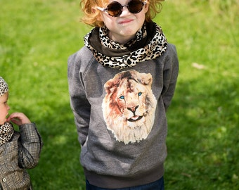 Infinity scarf Small 'Panther'