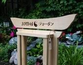 Taekwondo Belt Display -  Pyrography Wood Burning Personalized Oak / Maple Wall Mounted Belt Rack for Taekwondo & Karate Martial Arts