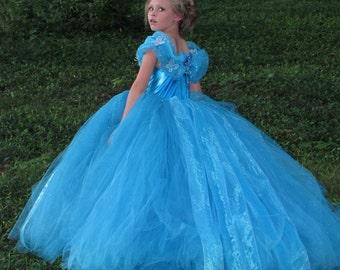 New 2015 Inspired Cinderella dress ,2015 Cinderella dress, Cinderella dress, Pagent dress, flower girl dress, Ella Dress, Ella Disney Dress
