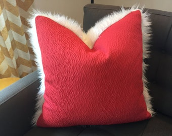 """decorative pillow cover to fit 20""""x20"""" insert - rich red"""