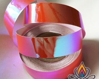 "3/4"" 36ft Roll, Apricot, Color Shifting Hoop Tape, Exotic Hoop Tape, Color Morphing Hoop Tape, Color Changing Tape, Iridescent"