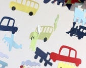 Cars Vehicles Planes Trains Bus Transportation Nursery Mobile; Baby Mobile, Boy Baby Shower Gift- SMALL SIZE