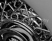 Black Silver Abstract Chrome Classic Car Cadillac Home or Office Decor, Original Photograph, Fine Art Photography matted & signed 5x7 print
