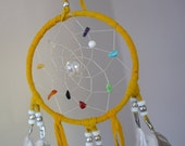 "Authentic Native American Rainbow Dream Catcher 4"" Diameter"
