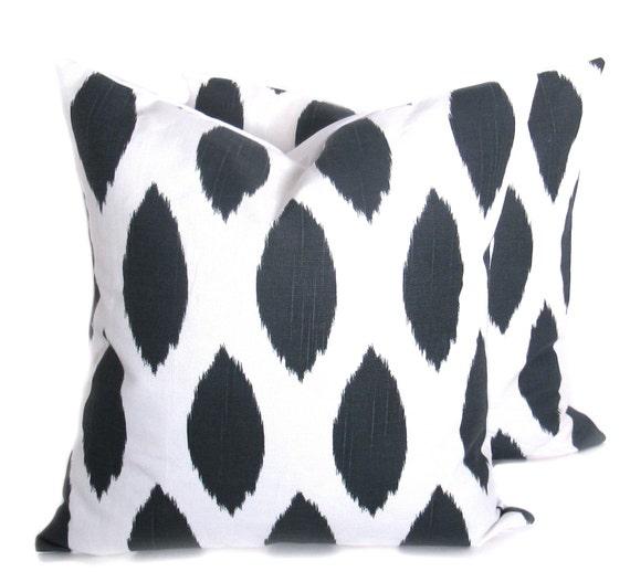 Gray Pillow Decorative Throw Pillow Cover Ikat Pillow 20 x 20 Throw Pillow Pillow Sham Cushion Cover Ikat Pillow Covers Dorm Bedding Accent