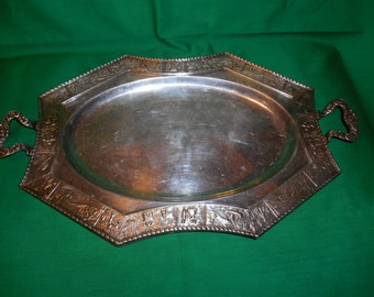 One (1), Vintage, Silver Plated, Serving Tray, from Crescent Silver Mfg.