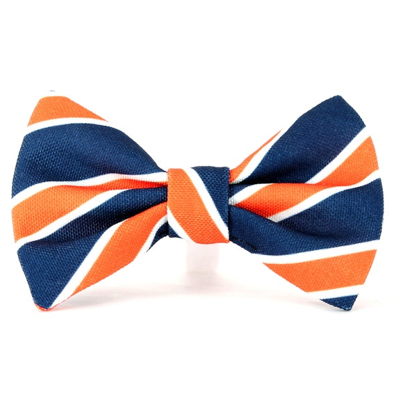 8e69dd4c7fb8 ... Blue And Orange Ties: Blue And Orange Bow Tie Dog Collar Navy Blue  Orange And