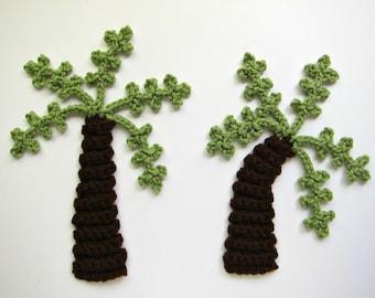 "1pc 9"" Crochet PALM TREE Applique"