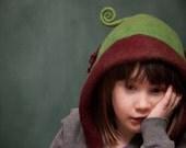 child's felt hat - get your own custom child's merino hood