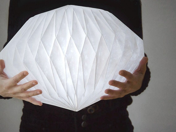 HEAVEN KNOWS  /// CLOUDY   -  origami lampshade