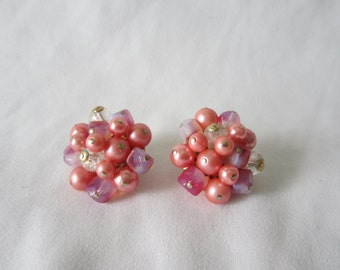 A Pair of Pink Trifari Clip-On Earrings
