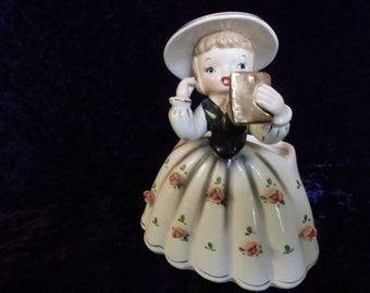Vintage Kelpo planter K681.  Girl with Purse.  Made in Japan