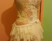 Custom order for Dance Makers of Atlanta 9 dresses of Antique, Vintage, Upcycled, Bohemian, Doily, Lace Dresses