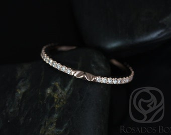 14kt Rose Gold Matching Band to Ann 10x7mm Diamonds ALMOST Eternity Band NOTCHED (Other Metals/Stone Options Available)