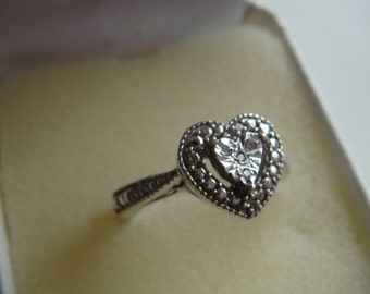 Heart Shape Ring with Diamonds