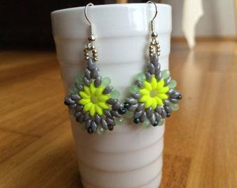 Earrings dangle silverBoho handmade jewelry